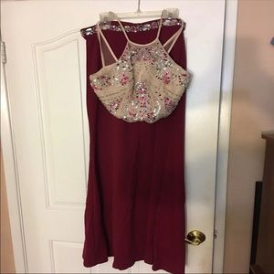 90b2d9c367b Windsor Dresses - Burgundy Gem 2 Piece Prom Dress w  Slit on Left